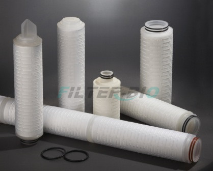 H-PTFE Pleated filter cartridge