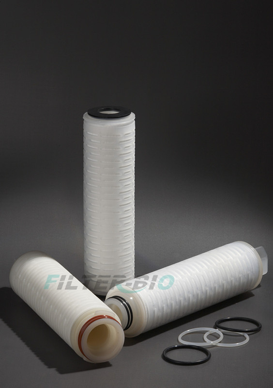 L-PTFE Pleated filter cartridge