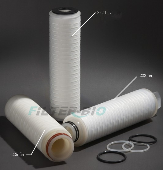 Air PTFE Pleated filter cartridge